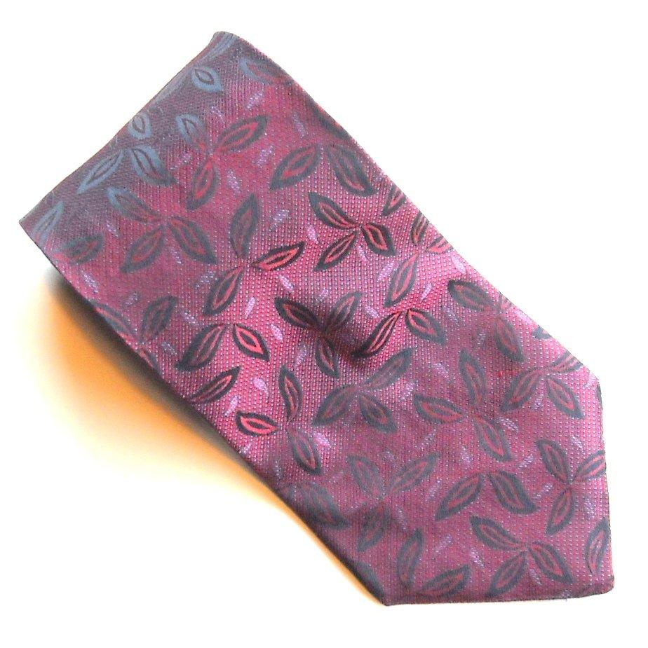 Kenar Handmade Cardinal Red with Design 100% Silk mens necktie tie