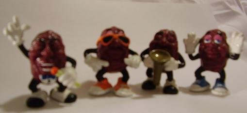 CALIFORNIA RAISINS HARDEES 1ST EDITION 1987 SET OF 4