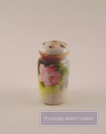 OLD CERAMIC SALT SHAKER JAPAN PINK ROSE