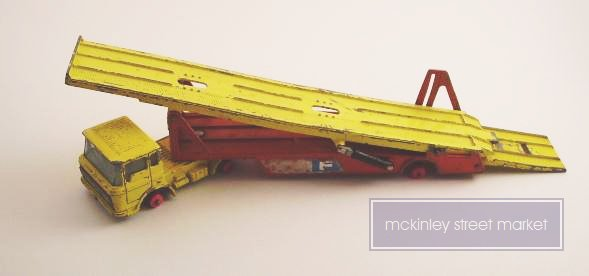 MATCHBOX KING SIZE DAF CAR TRANSPORTER K-11 1969