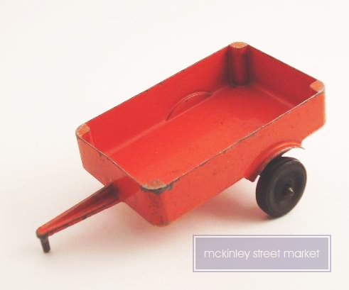 VINTAGE RED ALUMINUM SLIK TOY TRAILER