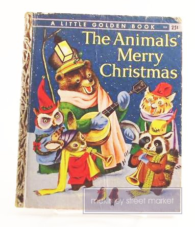 ANIMALS MERRY CHRISTMAS LITTLE GOLDEN BOOK 1950 1958 ILL RICHARD SCARRY