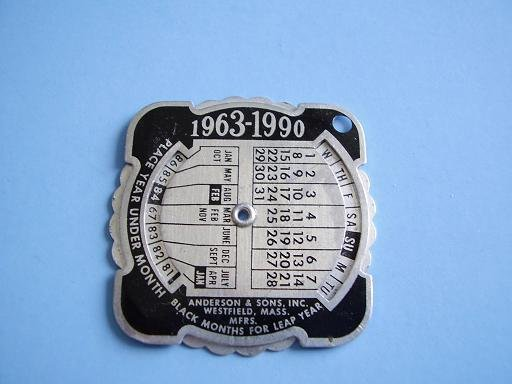 1963-1990 MINIATURE METAL CALENDAR ADVERTISING DELTA PRESS CHICAGO