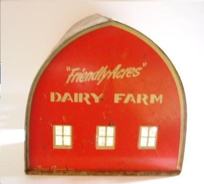 "VINTAGE ""FRIENDLY ACRES"" DAIRY BARN SUZY GOOSE"