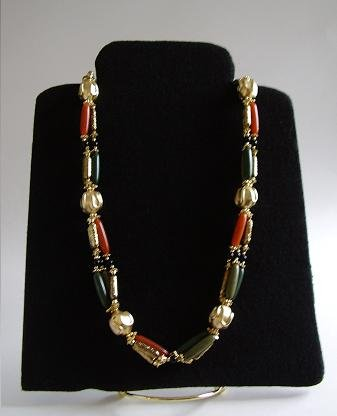 "VINTAGE 33"" COSTUME JEWELRY NECKLACE 50S ?"