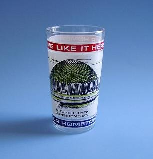 "RARE MILWAUKEE COMMEMORATIVE GLASS MITCHELL PARK CONSERVATORY ""WE LIKE IT HERE"" 70'S"