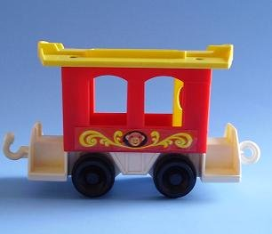 FISHER PRICE LITTLE PEOPLE CIRCUS TRAIN CABOOSE 991 1973