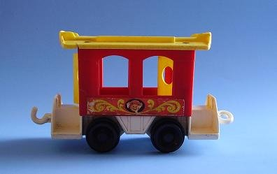 FISHER PRICE FP LITTLE PEOPLE CIRCUS TRAIN CABOOSE 991 1973