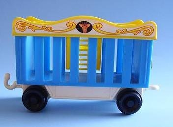 FISHER PRICE LITTLE PEOPLE CIRCUS TRAIN LION CAR 991 1973