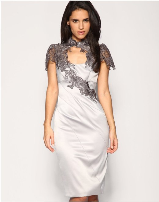 Custom Lace Applique Formal Celebrity Cocktail Evening Dress