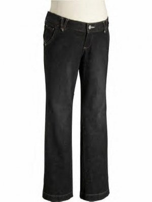 NWT OLD NAVY REAL WAIST BOOT CUT WEATHERED BLACK MATERNITY JEANS W/STRETCH Size-1 FREE SHIPPING