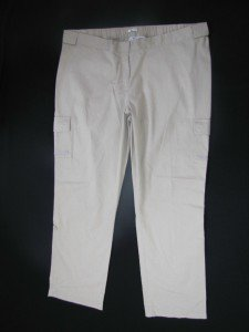 NWOT DUO BEIGE REAL WAIST CARGO POCKETS CONVERT MATERNITY PANTS 2 GR8 LOOKS SIZE X LARGE FREE SHIP