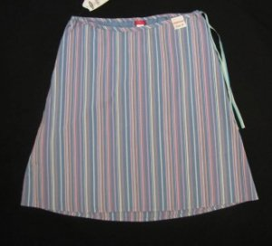 ADORABLE OLD NAVY MULTI PASTEL STRIPE A LINE MATERNITY SKIRT SIZE 8