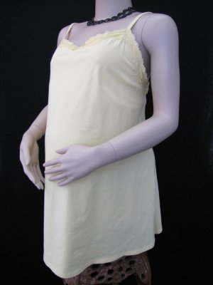 BRYLANE WOMAN PLUS SIZE MATERNITY CAMI/TANK WITH DELICATE LACE TRIM SIZE 1X