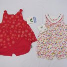 3 ADORABLE INFANT GIRLS ROMPERS/OUTFITS CARTERS & HEALTHTEX SIZE 3-6 MOS