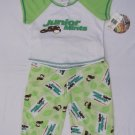 2 PC GIRLS SHORT SLEEVE LONG BOTTOMS SUMMER PAJAMAS SET NOVELTY PRINT 4-5