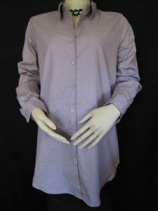 PURPLE LONG SLEEVE BUTTON DOWN MATERNITY SHIRT SIZE S