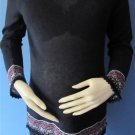 2 HEARTS LIGHT WEIGHT MATERNITY SWEATER W/NICE ACCENT TRIM SIZE M