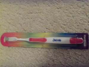 Personalized Toothbrush New In Package Jacob Red
