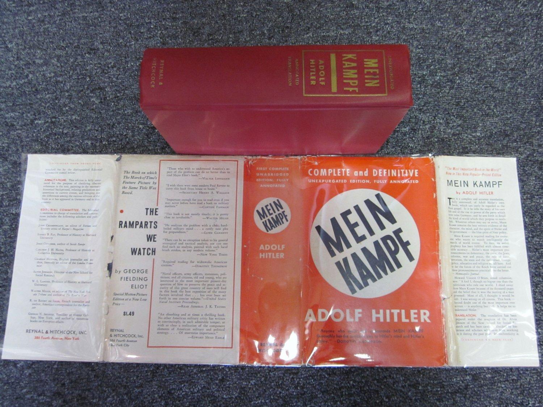Mein Kampf Hitler WWll With Dust Jacket
