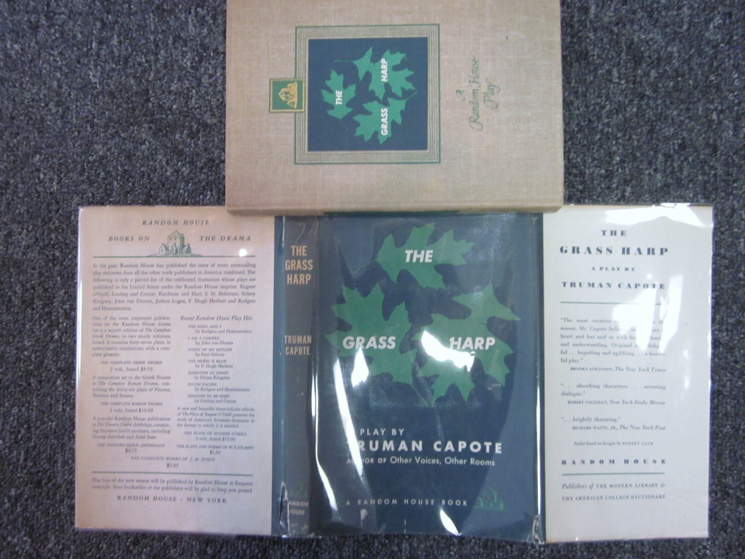 The Grass Harp A Play By Truman Capote First Editon