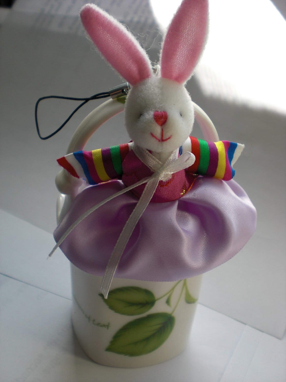 Super Cute Korean Hanbok Bunny Phone Handbag Charm Zipper Pull