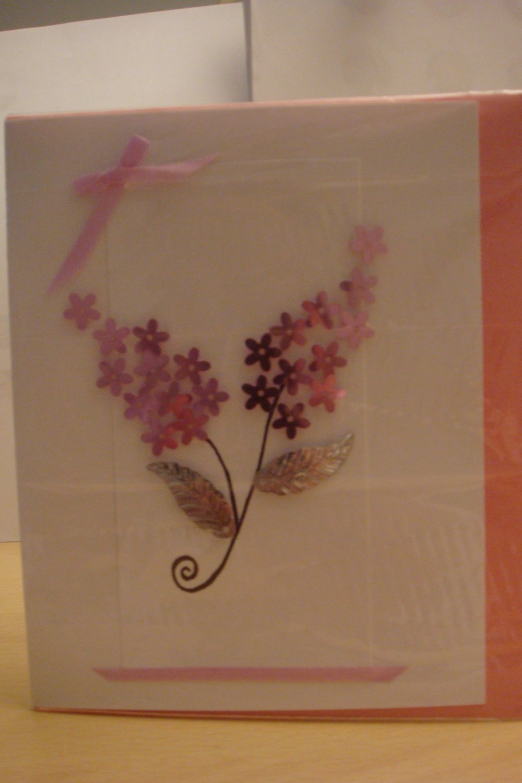 3D Pink Hydrangea Greeting Card