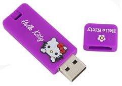 New 1GB Hello Kitty Flash Drive (Purple)