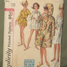 Vintage 1960's Sz 18-20 Misses Robe In 2 Lengths Sewing Pattern Simplicity #5965