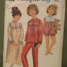 Vintage 1966 Children's Sleepware Sewing Pattern Simplicity #6815