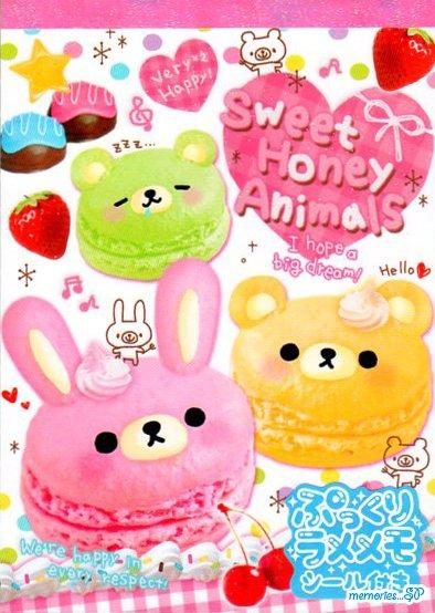 Crux Sweet Honey Animals Memo Pad kawaii