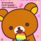 San-X Rilakkuma Rainbow Memo Pad #2 kawaii