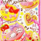 Kamio Japan Happiness Animal Memo Pad kawaii