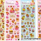 Lot of 4 San-X Rilakkuma Sweets Sticker Sheets - Kawaii Stickers