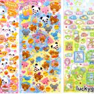 Lot of 5 Kawaii Sticker Sheets - Stickers by Kamio Japan San-X Crux