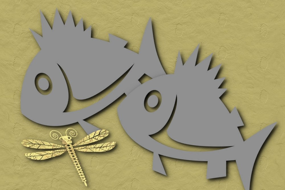 Camping Fish Template 4 x 6
