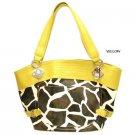 Giraffe and Yellow handbag super cute