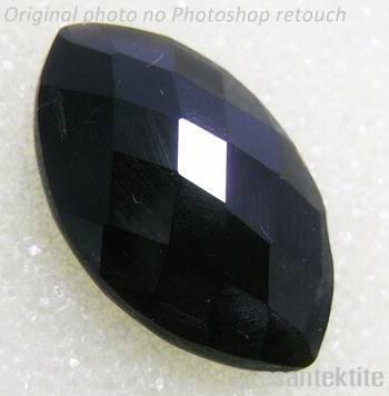 10.5CT MARQUISE BLACK GEMSTONE TEKTITE METEORITE #Y12