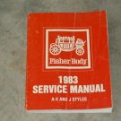 1983 FISHER BODY Shop Repair Sevice Manual FREE SHIP