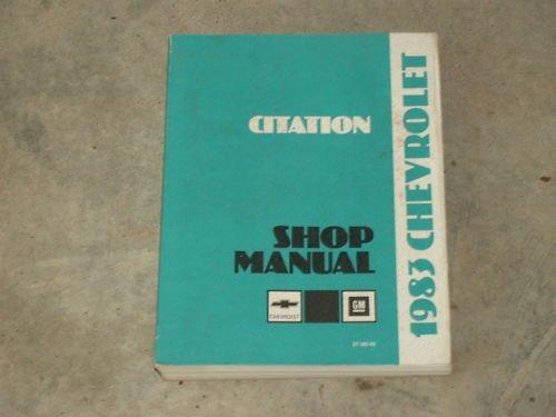 1983 CITATION Shop Repair Service Auto Manual FREE SHIP