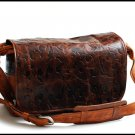 Leather bag Cross Body for Men and Women - XXL Bison leather available