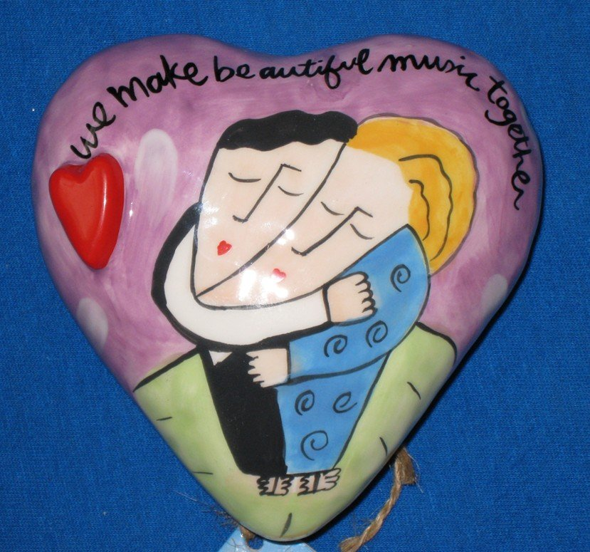 SANDRA MAGSAMEN for SILVESTRI - HEART Rattle - Handcrafted