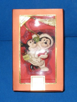 LENOX 2007 Annual MICKEY and MINNIE First Christmas Together Ornament - NIB