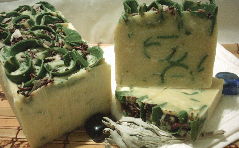 """Lemongrass and White Sage Soap """"Zakiah Levanah"""""""