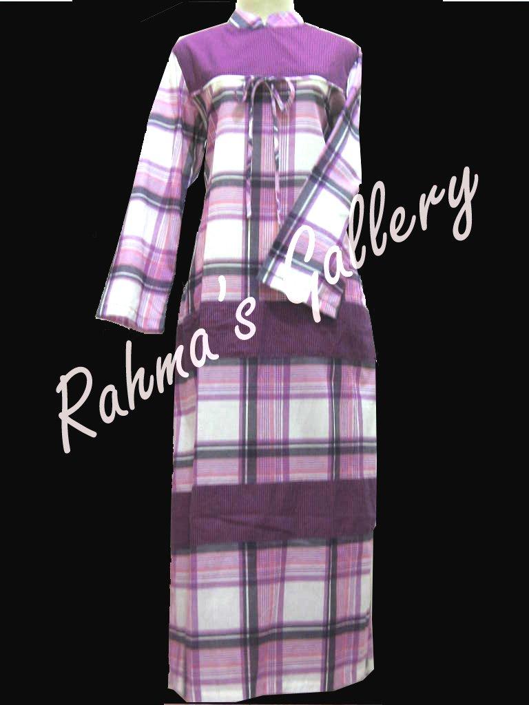 plaid purple abaya
