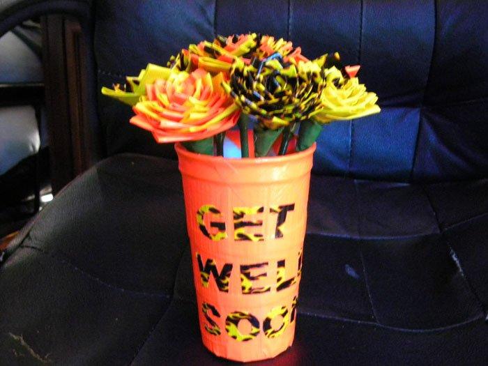 Duct tape vase