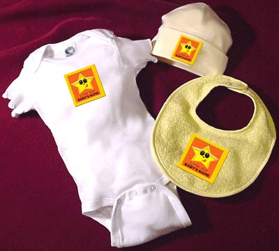 personalized baby clothing set with star