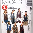Vest Pattern with Style Variations - McCall's 2260
