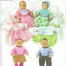 Baby Doll Clothes Pattern - Simplicity 1937