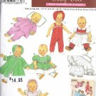 Baby Doll Clothes Pattern - Simplicity 4707